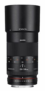 Rokinon 100mm F2.8 ED UMC Telephoto Macro Lens for Nikon - 100M-N - New!