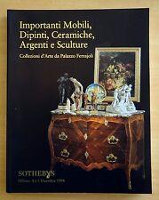 Importanti Mobili,Dipinti,Ceramiche,Argenti Sculture 1996 Sotheby Catalog MILANO