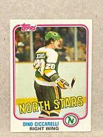 1981-82 Topps #W105 Dino Ciccarelli Rookie Card RC Stars Rookie