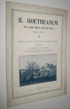 Rudolf Steiner IL GOETHEANUM EDIFICIO DI DORNACH - Milano Codara 1923