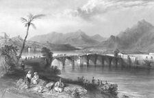 Turkey Taşköprü ADANA SEYHAN RIVER ROMAN STONE BRIDGE ~ 1836 Art Print Engraving