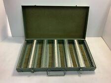 Vintage Dunco Light Green Metal 150 Slide Slides Storage Case Photography