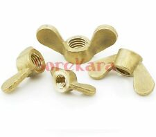 Lot10 Brass Wing Nuts Thumb Butterfly M6 Metric Threaded