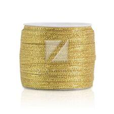 """50 Yards 1/8""""3mm Gold Sheer Organza Ribbon Sew Craft Wedding Decoration IW"""