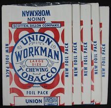 5 Vintage 1930's Union Workman Chewing Tobacco Scotten Dillon Bag Pouch