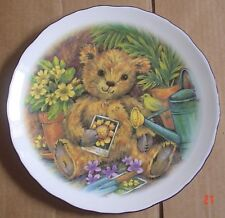 Royal Vale Collectors Plate Showing A Gardening Teddy Bear