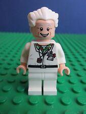 Genuine LEGO Doc Emmett Brown minifigura RITORNO AL FUTURO 21103 idee Set i46