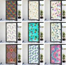 Privacy 3D Static Cling Frosted Stained Window Film Flower Glass Sticker Decor
