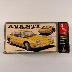 AMT 2064-170 63 Avanti 3in1 vintage USA model kit- open box partial built kit