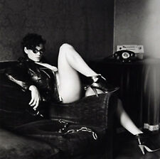 Helmut Newton Nude of Lisa Lyon Wearing Leather Jacket, Paris 1980