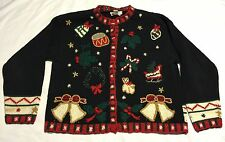 Cape isle Knitters Hand Knitted Christmas Sweater Ugly Xmas Party Holiday