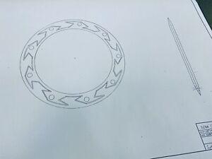 VERY RARE Xena Icons CHAKRAM Blue Print  For The Prop Replica No Sword