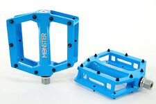 Redline Monster MTB/BMX Bike Platform Pedals w/ Replaceable Pins, Blue
