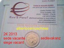 2 euro 2013 fdc Sede Vacante Siège Vacant Sedisvakanz VATICANO Vatican Vatikan