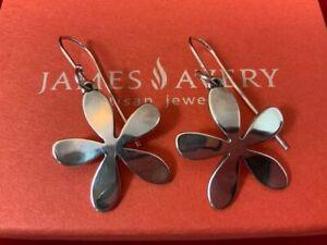 James Avery RETIRED Sterling Silver Spring Flower Hook Earrings