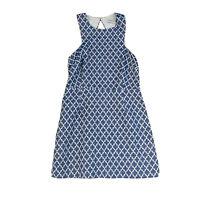 Bec & Bridge White Blue A-Line Dress Women's Size 12 Cut Out Back