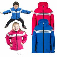 Trespass Priorwood Kids Waterproof Jacket Boys Girls School Raincoat with Hood