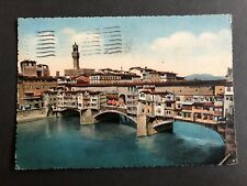 ITALY FIRNZE THE OLD BRIDGE POSTCARD