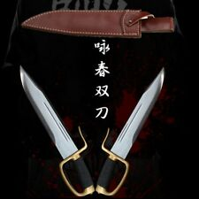 Wing Chun-Bart Cham Dao Double knives T10 Steel with clay tempered sword #3807