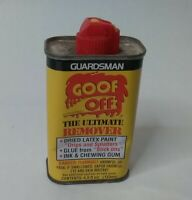 EMPTY Vintage GOOF OFF Collectible Can Advertising Tin