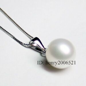 HUGE SEA SNOW MOTHER-OF PEARL 20MM PENDANT + CHAIN