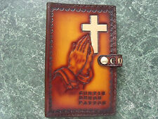 Large Hand crafted leather Bible cover. Can be personalized.