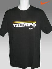 Nike TIEMPO Football Cotton T Shirt Black  M