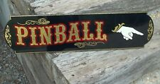 Old Fashioned Pinball Hand Pointer Sign, Nice Custom Directional Sign Gold Leaf