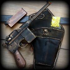 Steampunk Gun Holster Belt  AIRSOFT BB mauser broomhandle c96 Zombie Vampire