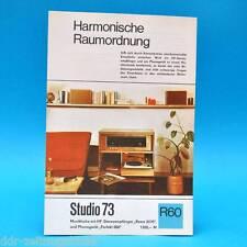 Studio 73 Musiktruhe Rema Perfekt 1969 | Prospekt Werbung DEWAG Werbeblatt R60 C