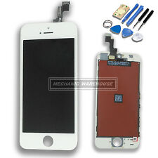 White Replacement LCD Screen Digitizer Touch Glass Unit For Apple iPhone 5S SE