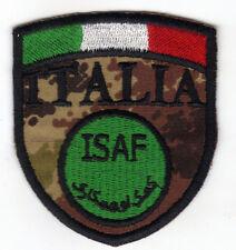 [Patch] SCUDETTO ISAF ITALIA cm 6x6,5 su vegetato toppa ricamata ricamo -063v