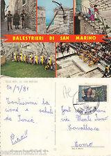 CARTOLINA RARA,  BALESTRIERI DI SAN MARINO Balestra, Gara di Tiro , (27)