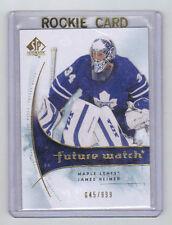 09-10 SP Authentic James Reimer Rookie Card RC #164 /999 Mint