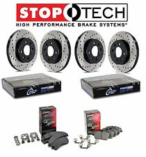 Toyota Tundra Front and Rear StopTech Drilled Brake Rotors PQ Ceramic Pads Kit