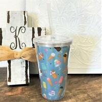 Aqua Ice Cream Theme Acrylic Tumbler