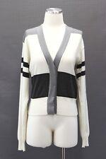 NWT$1995 Brunello Cucinelli Women Cashmere Color-Block Striped Cardigan SzM A186