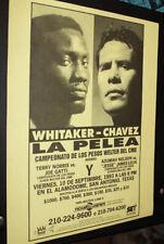 PERNELL WHITAKER vs JULIO CESAR CHAVEZ Original *SPANISH* handbill boxing poster