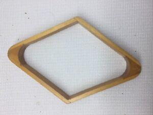 9 Ball Vintage Wood Dovetail Pool Rack Diamond Shape Retro Bar Handmade Inlaid