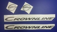"""CROWNLINE boat Emblem 20"""" black +FREE FAST delivery DHLexpress -stickers decal"""