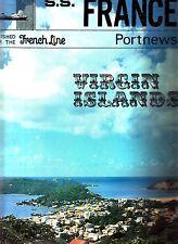 SS France Port News French Line St. Maarten NYC Nassau Caribbean 1969