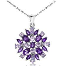 Cluster Amethyst Sterling Silver Fine Necklaces & Pendants
