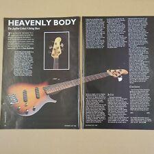 vintage 8x11 magazine cutting JAYDEE CELEST bass review , 1990 , 2 sides