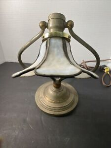 VINTAGE ART DECO CAST IRON BASE TABLE LAMP FINIAL BRYANT SOCKET WORKS Pat'd 1907