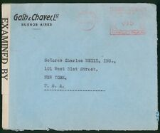 Mayfairstamps Argentina 1942 Metered Censored to New York USA cover wwo1369