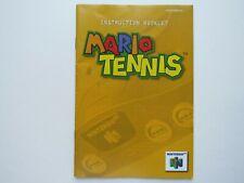 Mario Tennis Nintendo 64 N64 Video Game Manual Instruction Booklet OEM Rare GOOD