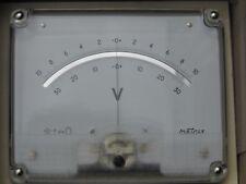 Voltmètre à 0 central Metrix 135 x 110mm made in france 6625-30395