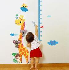 Chart Kids Height Growth Wall Canvas Ruler Room Wooden Giraffe Free Baby Decor