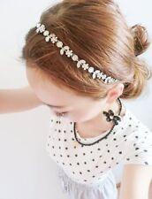 Head Piece Silver Floral Diamante Boho Hair Band Headwear Headband Bridal Hippy