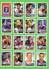 2002  NEWCASTLE KNIGHTS  NEWSPAPER  RUGBY LEAGUE CARDS